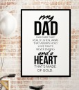 Heart made of Gold - dad