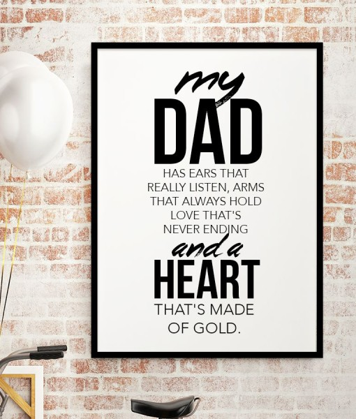 Heart made of Gold – dad